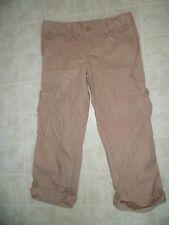 Womens GAP Brown  Surplus Roll up pants , Sz 10