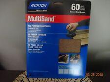 Norton 47750 MULTISAND ALL PURPOSE 60 Grit SANDPAPER, 9-Inch x 11-Inch, 3-Pac