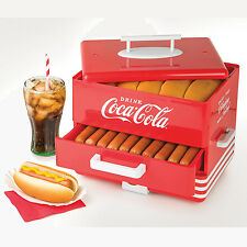 COCA-COLA ELECTRIC HOT DOG STEAMER MACHINE & BUN WARMER FOOD STEAMER HDS248COKE