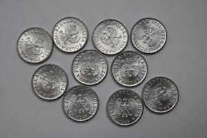 POLAND 1 GROSZ 1949 - 10 COINS UNC LOT A88 RV8
