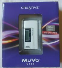 Creative MuVo V100 MP3 WMA Player - Collectable Item - White - Boxed, Seems New