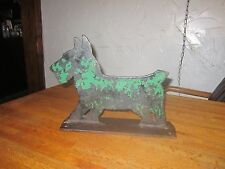 Rare Antique Original Cast Iron Black Scottie Dog Boot Scraper Doorstop Sculptur