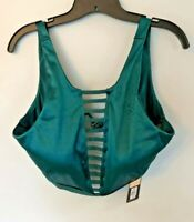 CALIA Size XL High Neck Cage Front Deep Teal Green Top NWT $45 Antimicrobial