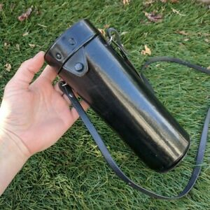 Vintage 9 inch Cannon Lens Case - Hard Case with Strap - Needs some love