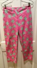 Lilly Pulitzer Green Turtle & Pink Capris Pants. Size 2. Cotton Blend. Nice!