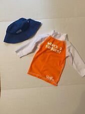 Uv Skinz Baby 12 to 24 Mo. Sun Hat and Shirt Long Sleeve Lot Upf 50