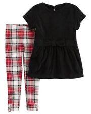Vestiti e abbigliamento neri in misto cotone con maniche lunghe per bambina da 0 a 24 mesi