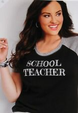 f96dc89df90ad Maurices With Tags Black   Gray School Teacher Graphic Tee Plus Size ...