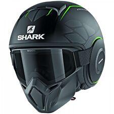 Shark Street-Drak Hurok mat Street Fighter casco Matt-negro-verde