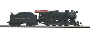 HO MTH Die-Cast Pennsylvania H-10 2-8-0 2 Rail DC w/DCC, Sound, Smoke 80-3240-1