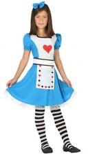 Déguisement Fille ALICE Bleu 10/11/12 ans Costume Enfant Dessin Animé film NEUF