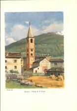 Stampa antica BORMIO Chiesa di San Vitale Sondrio Valtellina 1934 Old print