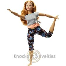 Barbie Made To Move Doll - Curvy Strawberry Blonde Toy Doll Play Fun Pretend
