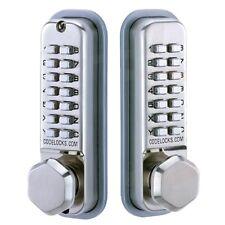 Digital Combination Code Mechanical Door Lock Push Button Access Back To Back