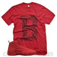 7a7be5d87e3 AIR JORDAN 12 XII GYM RED CHICAGO BULLS T SHIRT SIZE 8 9 10 10.5 11 ...