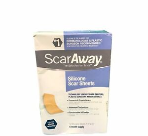 ScarAway Silicone Scar Treatment Sheets 12 Count