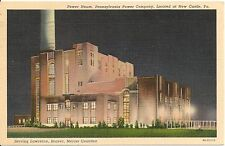 Power House Penna. Power Company New Castle PA Postcard 1939