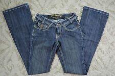 Urban Behavior Luxury Allison Boot Cut Leg Dark Blue Denim Jeans Juniors 00/24