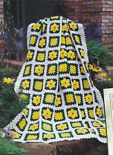 Crochet Pattern ~ DAFFODIL GARDEN AFGHAN ~ Instructions