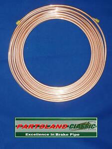 "Copper Nickel Kunifer Brake Pipe 3/16"" 25ft BS EN12449 Wholesale pack x 10 Coils"