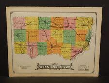 Iowa Clinton County Map  1925  W14#48