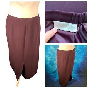 Ladies Purple Skirt Size 20 ANN HARVEY Straight Lined Smart Work Business 🌹
