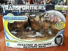 TRANSFORMERS CYBERVERSE COMMANDER DOTM MEGATRON BLASTWAVE WEAPONS BASE 3 IN 1