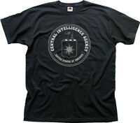 CIA Central Intelligence Agency USA navy black zinc cotton t-shirt 0263