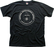 CIA Central Intelligence Agency USA Nero Navy zinco T-shirt di Cotone 0263