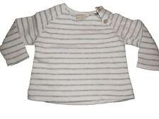 Zara toller Pullover Gr. 68 weiß-grau gestreift in Strick Optik !!