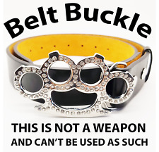 Bling Duster Belt & Buckle THIS IS NOT A WEAPON Accessory ONLY Fist Fight Boxer