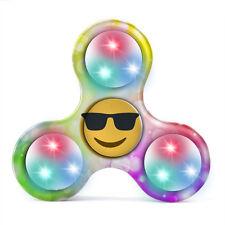 Emoji LED Licht Finger Hand Spinner Fidget Spinner ADH ADHS Anti Stress Spielze