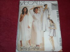 🌼 McCALL'S #6536-LADIES THREE LENGTH NIGHTGOWN - ROBE & BABY DOLL PATTERN 16-18