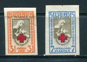 Estonia 1921 Sc B5-6 MH Imperf Red Cross  7291
