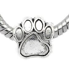 20 älter Silber European Hundpfote Perlen Beads 11x11mm Wholesale