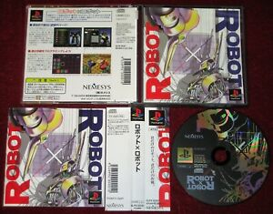 *Complete* PS1 Strategy Game ROBOT-X-ROBOT NTSC-J Japan Import PlayStation JPN