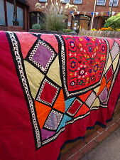 Antique Central Asia Uzbek Patchwork Quilt Korak Suzani central panel