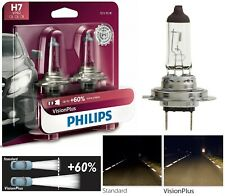 Philips VIsion Plus 60% H7 55W Two Bulbs Head Light Low Beam Replace Plug Play