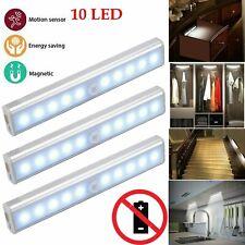 1-3 PCS Motion Sensor Cabinet LED Lights Chargeable PIR Wardrobe Cupboard Light