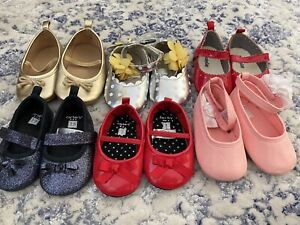 Lot of Six sets of baby girl shoes
