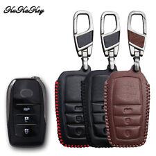 Leather Remotes Car Key Cover Case Holder for TOYOTA Land Cruiser prado Camry