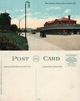 EAST LIBERTY PA RAILROAD STATION ANTIQUE POSTCARD railway train depot
