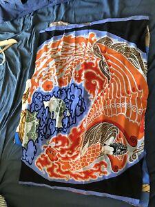 Beautiful Handmade Silk Pillowcase Vintage Silk Kimono Upcycle Japanese Bedding
