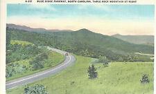 Blue Ridge Parkway  Table Top Mountain   NC   Unused Mint Linen Postcard 10144