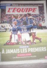 L'EQUIPE HORS-SÉRIE 1998 À Jamais Les Premiers Football France Coupe Du Monde