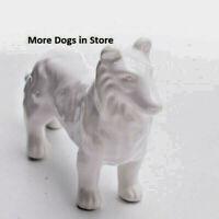 dog figurine tozai home white ceramic lassie domestic dog glass Animals 6 NWT