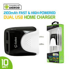 Cellet Universal High Power 10Watt 2.1 Amp Dual Usb Wall Charger for Cell Phones