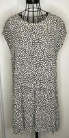 THE MASAI CLOTHING COMPANY Brown White Patterned Loose Fit Dress Medium 12 14