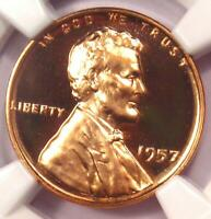 1957 Proof Lincoln Wheat Cent Penny 1C - NGC PR67 RD Cameo (PF67) - $235 Value!