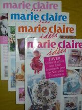 Lot de 4 revues Marie Claire Idées année 2005 n° 56/57/58/59